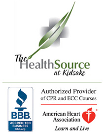 The HealthSource at Kidsake logo